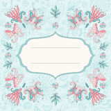 Beautiful floral holiday card Stock Image