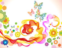 Beautiful floral illustration with butterfly Stock Image