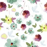 Beautiful floral illustration  with field Stock Images