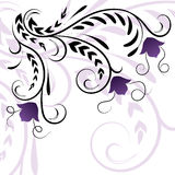Beautiful floral illustration with swirls Royalty Free Stock Image