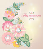Beautiful floral invitation card. eps10 Royalty Free Stock Photography