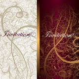 Beautiful floral invitation cards for design Royalty Free Stock Image
