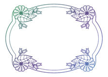 Beautiful floral label with gradient fill.  Raster clip art. Royalty Free Stock Photos
