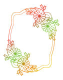 Beautiful floral label with gradient fill.  Raster clip art. Stock Photography