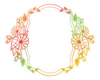 Beautiful floral label with gradient fill.  Raster clip art. Stock Photos