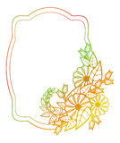 Beautiful floral label with gradient fill.  Raster clip art. Royalty Free Stock Images