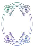 Beautiful floral label with gradient fill. Raster clip art. Stock Image