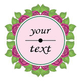 Beautiful floral label round shape Stock Image