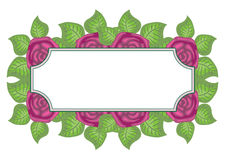 Beautiful floral label with space for text Stock Image