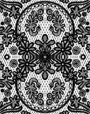 Beautiful floral lace with a circular elements Royalty Free Stock Image