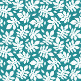 Beautiful floral leaf seamless pattern Royalty Free Stock Image