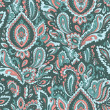 Beautiful floral leaf seamless pattern Stock Images