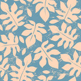 Beautiful floral leaf seamless pattern Royalty Free Stock Photo