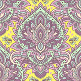 Beautiful floral leaf seamless pattern Stock Photos