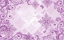 Beautiful floral lilac background Royalty Free Stock Images