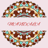 Beautiful floral mandala with place for your text. Stock Image