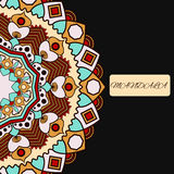 Beautiful floral mandala with place for your text. Stock Photos