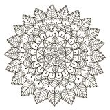 Beautiful Floral mandala. Vector Round Ornament Pattern Royalty Free Stock Photography