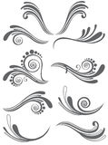 Beautiful floral ornament elements Royalty Free Stock Photos