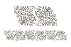 Beautiful  floral ornament for your business. Hand Stock Photos
