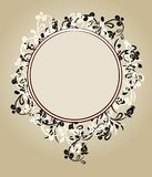 Beautiful floral ornate frame Royalty Free Stock Photos