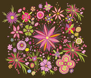 Beautiful floral pattern Royalty Free Stock Photos