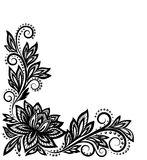 Beautiful floral pattern, design element in the ol Royalty Free Stock Photo