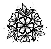 Beautiful floral pattern, design element in the old style. Stock Photo