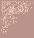 Beautiful floral pattern, a design element in the stock illustration