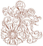 Beautiful floral pattern over white Stock Image