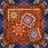 Beautiful floral pattern in patchwork style. Indian, arabic, aztec, moroccan, mexican motives.  Stock Photos