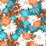 Beautiful floral pattern. Seamless pattern. Flowers. Bright buds, leaves, flowers. Flowers for greeting cards, posters, flyers. Stock Photo