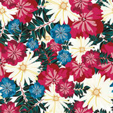 Beautiful floral pattern. Seamless pattern. Flowers. Bright buds, leaves, flowers.Seamless vintage tropical flower pattern vector. Royalty Free Stock Image