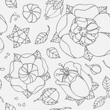 Beautiful floral pattern Stock Images