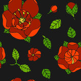 Beautiful floral pattern Stock Photos