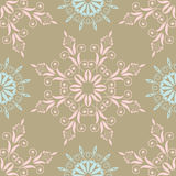 Beautiful floral pattern in vintage colours with blue and pink Royalty Free Stock Images