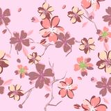 Beautiful floral patterns in japanese style. Vector Royalty Free Stock Photography