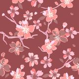 Beautiful floral patterns in japanese style. Vector Royalty Free Stock Photos
