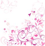 Beautiful floral pink card Royalty Free Stock Image