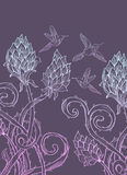 Beautiful floral prickle background Stock Photography