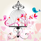 Beautiful floral romantic background Royalty Free Stock Image