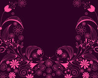 Beautiful floral romantic background Stock Photos