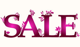 Beautiful floral sale illustration Stock Photo