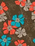 Beautiful floral seamless pattern. Floral seamless pattern with styled flowers Royalty Free Stock Photo