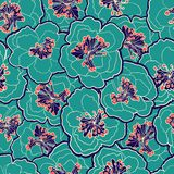 Beautiful floral seamless pattern. Garden blossom pastel flowers. Vector illustration. Seamless pattern can be used for wallpapers Stock Photo