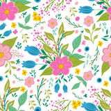 Beautiful floral seamless pattern in gentle colors. Bright illustration, can be used for creating card, invitation card Stock Image
