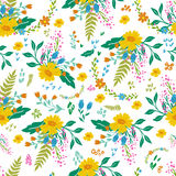 Beautiful floral seamless pattern in gentle colors. Bright illustration, can be used for creating card, invitation card Stock Photos