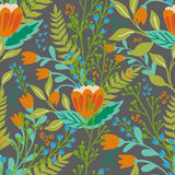 Beautiful floral seamless pattern in gentle colors. Bright illustration, can be used for creating card, invitation card Royalty Free Stock Photography