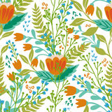 Beautiful floral seamless pattern in gentle colors. Bright illustration, can be used for creating card, invitation card Royalty Free Stock Image