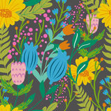 Beautiful floral seamless pattern in gentle colors. Bright illustration, can be used for creating card, invitation card Royalty Free Stock Images